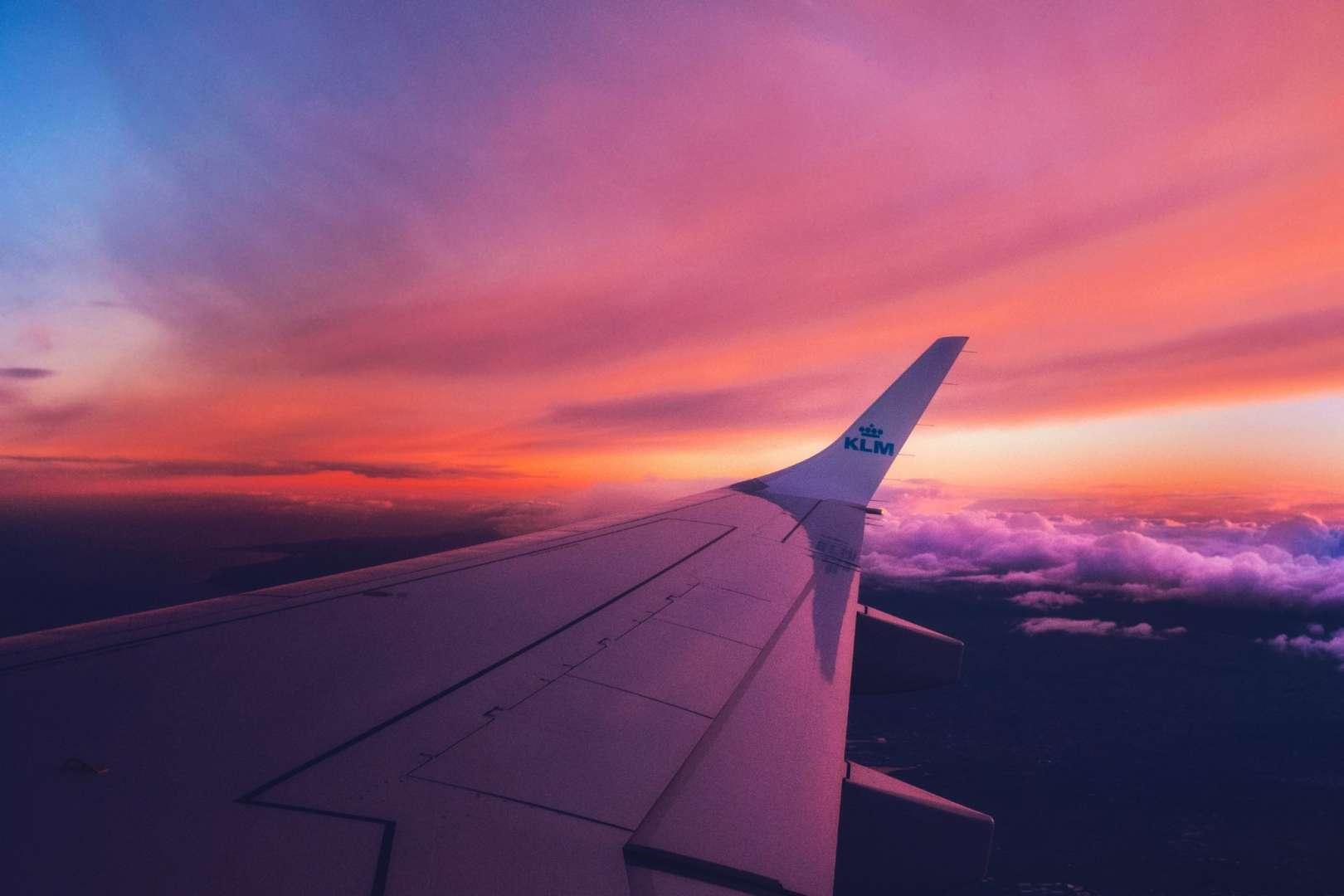 Aeroplane Wing During a Flight