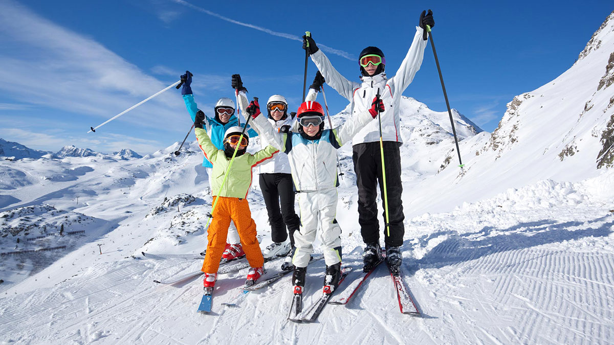 Family On a Skiing Holiday
