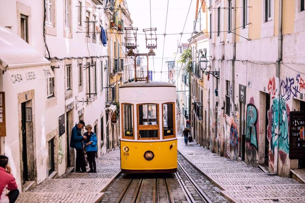 Hill Tram in Portugal