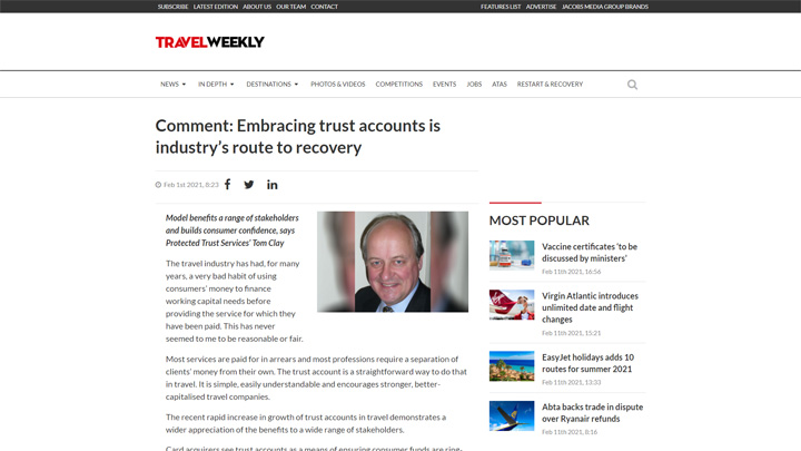 Embracing Trust Accounts Is Industry's Route To Recovery