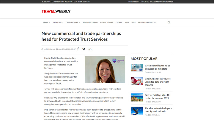 New Commercial and Trade Partnerships Head For Protected Trust Services