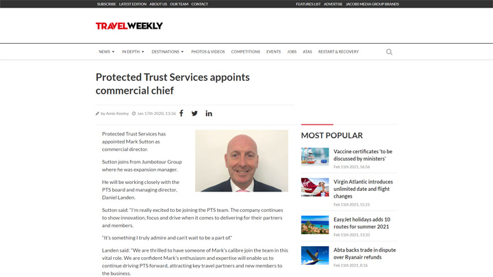 PTS Appoints New Commercial Chief