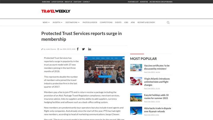 PTS Reports Surge In Membership
