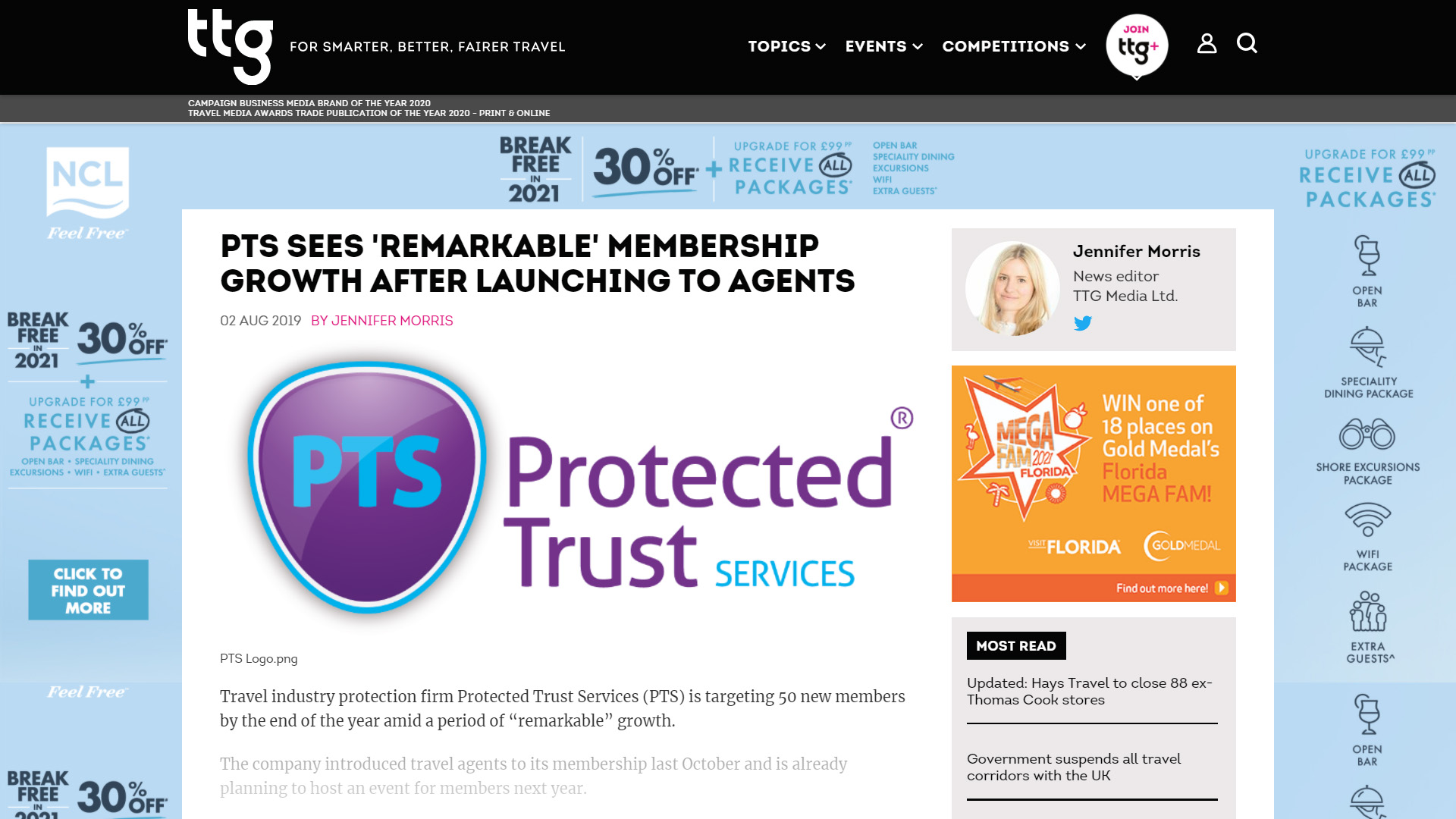 PTS Sees Remarkable Membership Growth After Launching to Agents