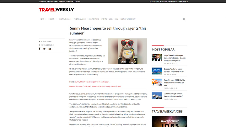 Sunny Heart Hopes To Sell Through Agents This Summer