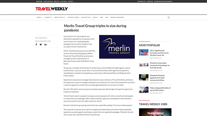 Merlin Travel Group Triples In Size During Pandemic