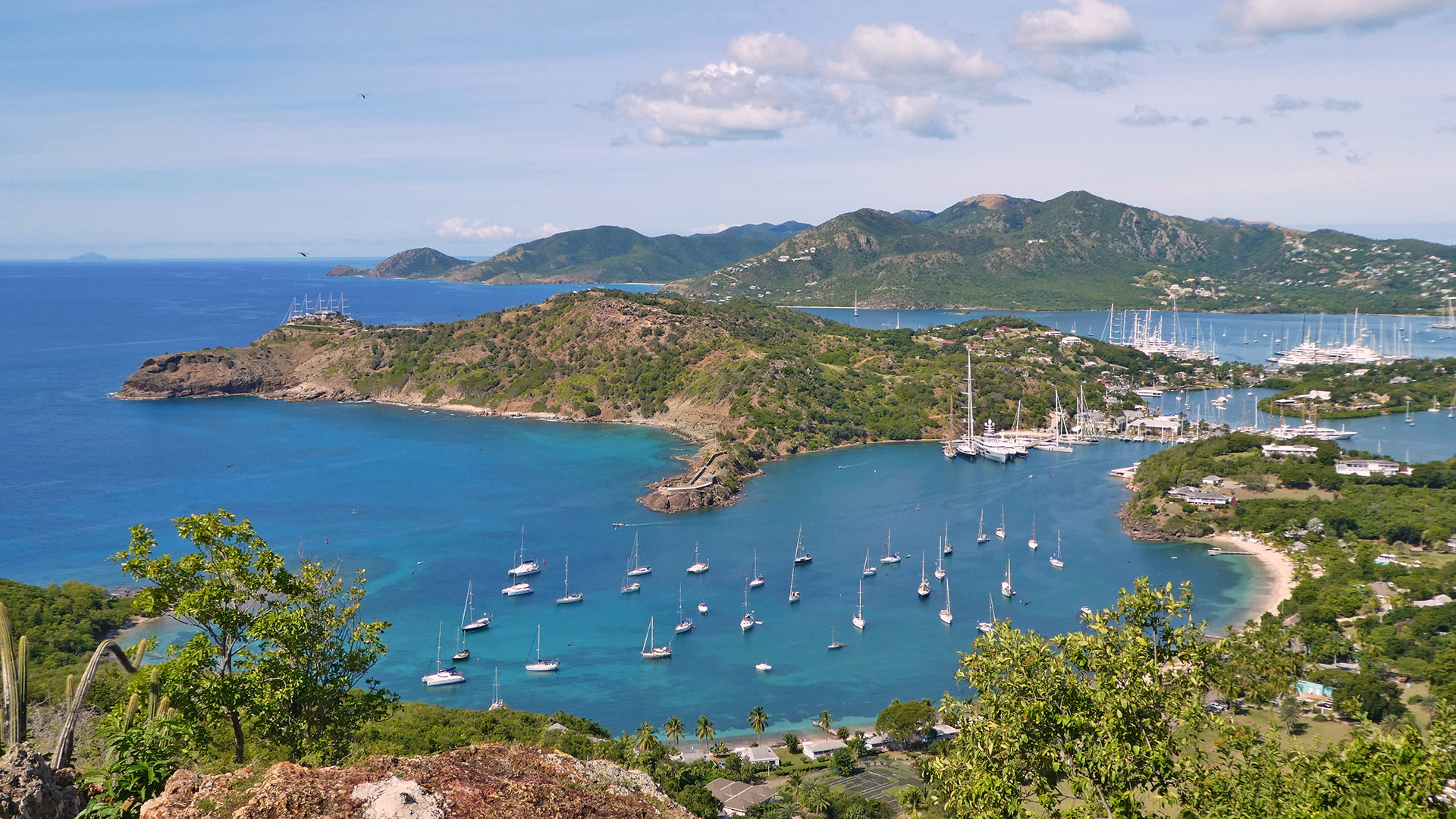 English Harbour in Antigua and Barbuda