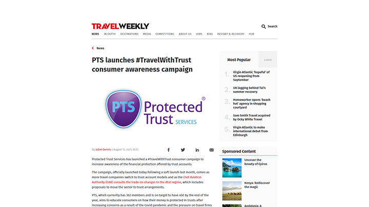 PTS launches #TravelWithTrust Consumer Awareness Campaign