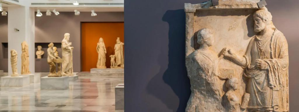 Greek Statues in a Museum