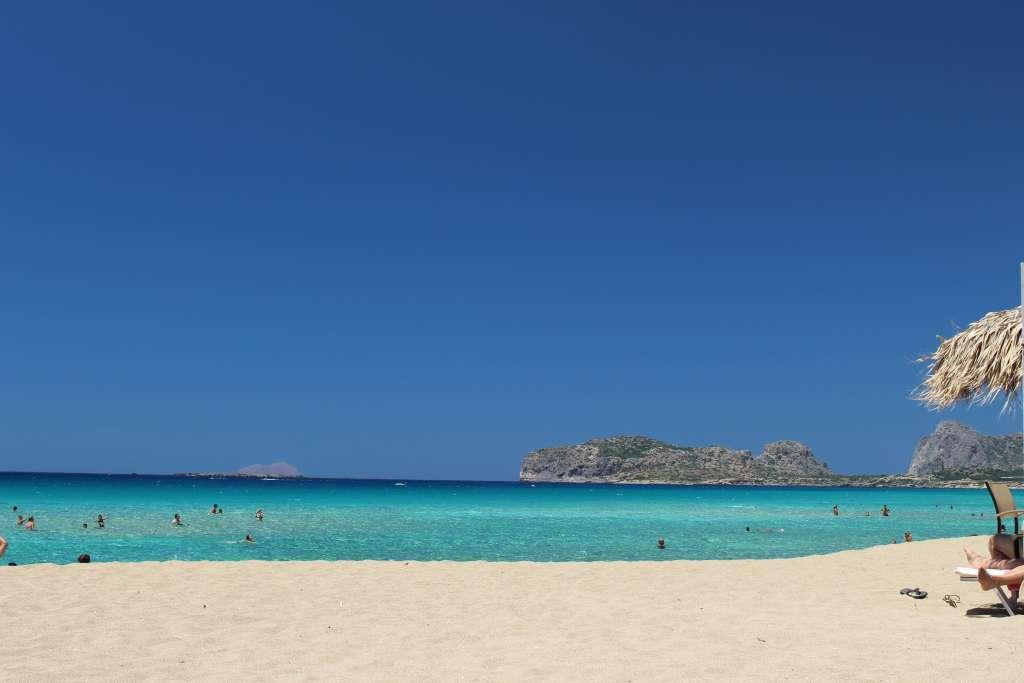 A Sunny Beach In Crete